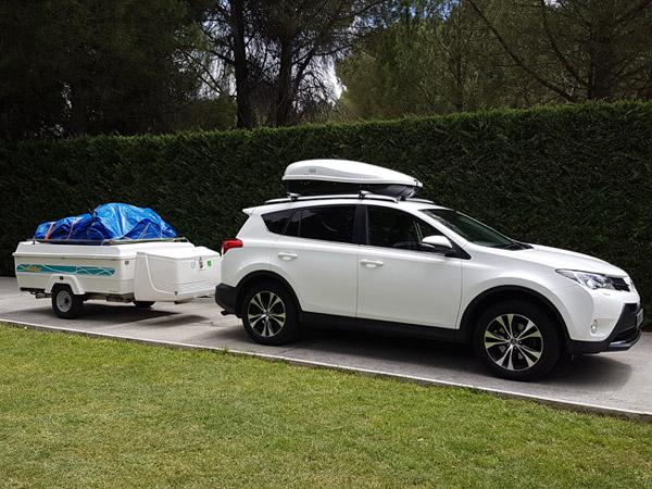 Viajando de camping