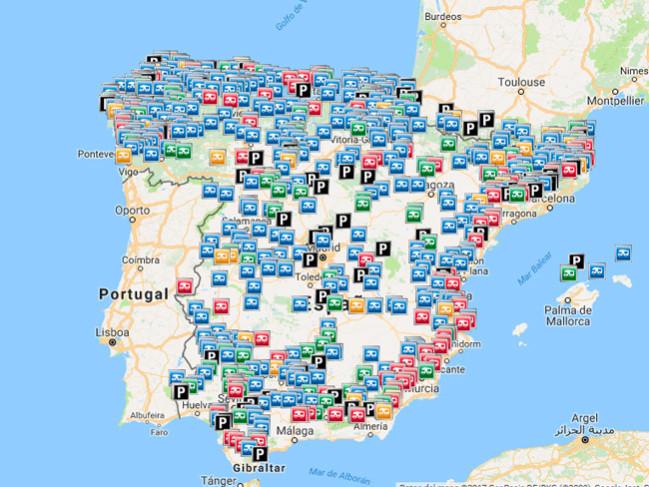 areas servicio autocaravanas
