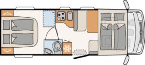 Autocaravana Dethleffs Trend I 7057